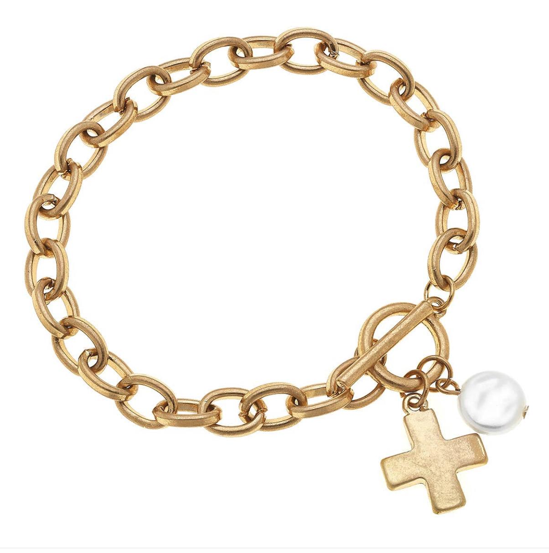 CV Cross Charm Bracelet 21744