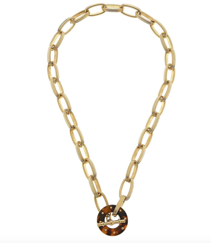 CV Tortoise Chain Link Necklace 21736