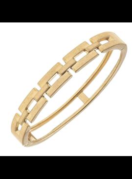 FR Square Link Bangle Bracelet 21704