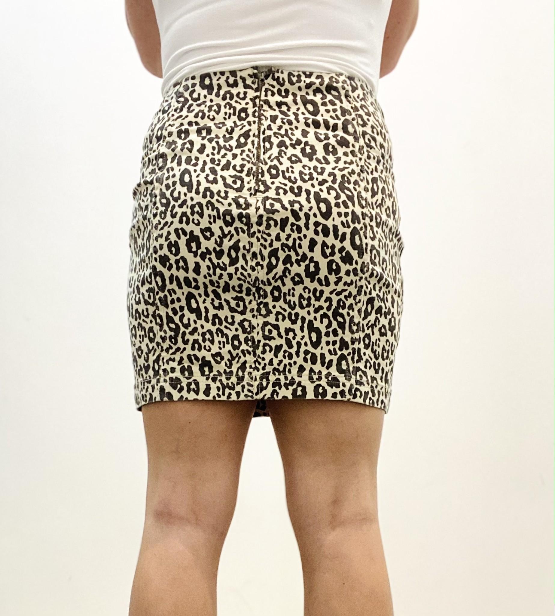WL Simone Leopard Skirt