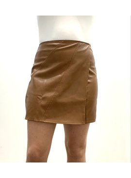 SS You're So Heather Leather Skirt 3633