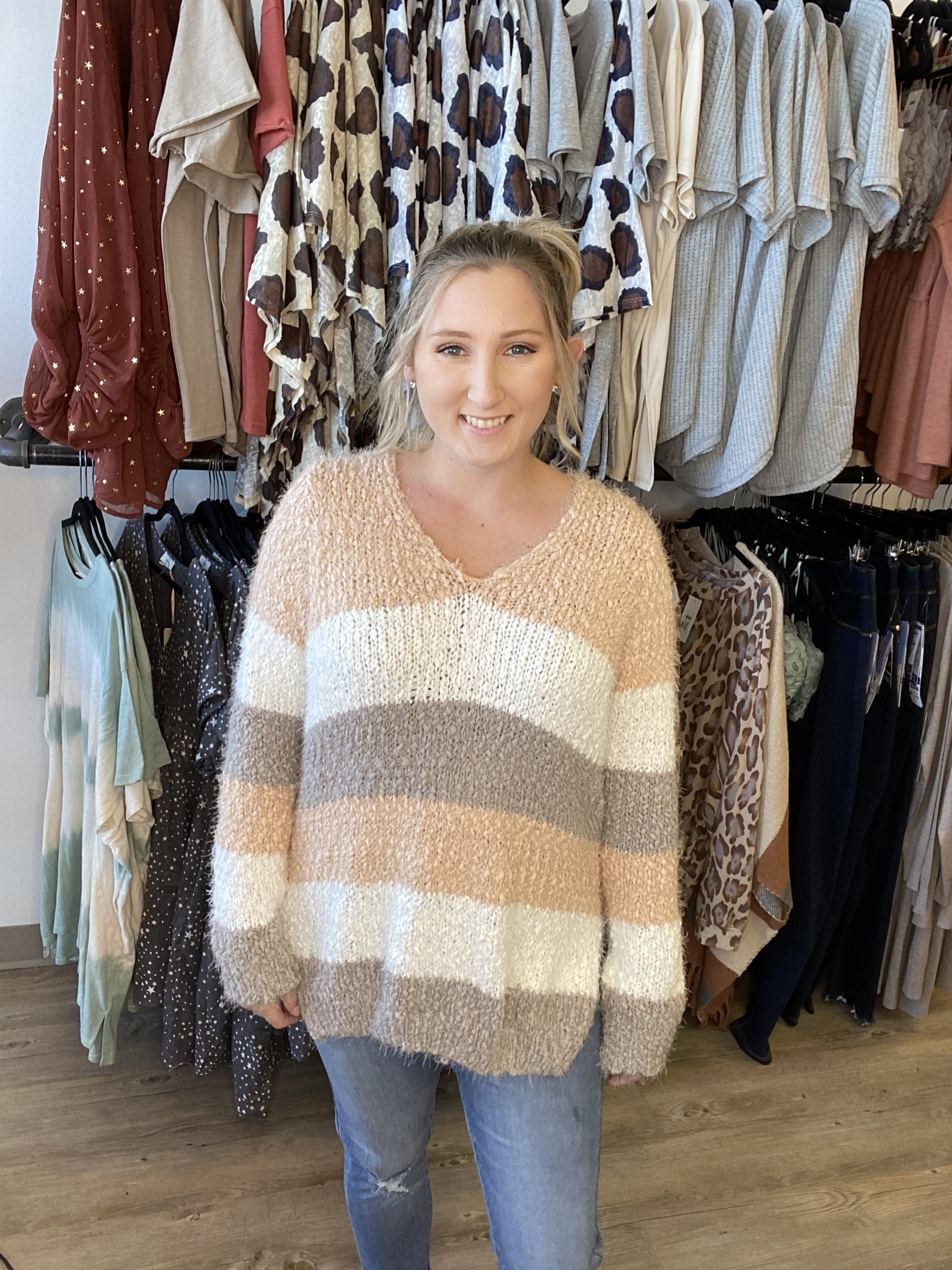 BB Fire Side Chats Popcorn Sweater 3257