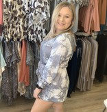 LC Clouds are Grey Tie Dye Romper 609