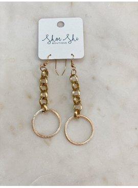 SAJ Chain Hoop Earrings