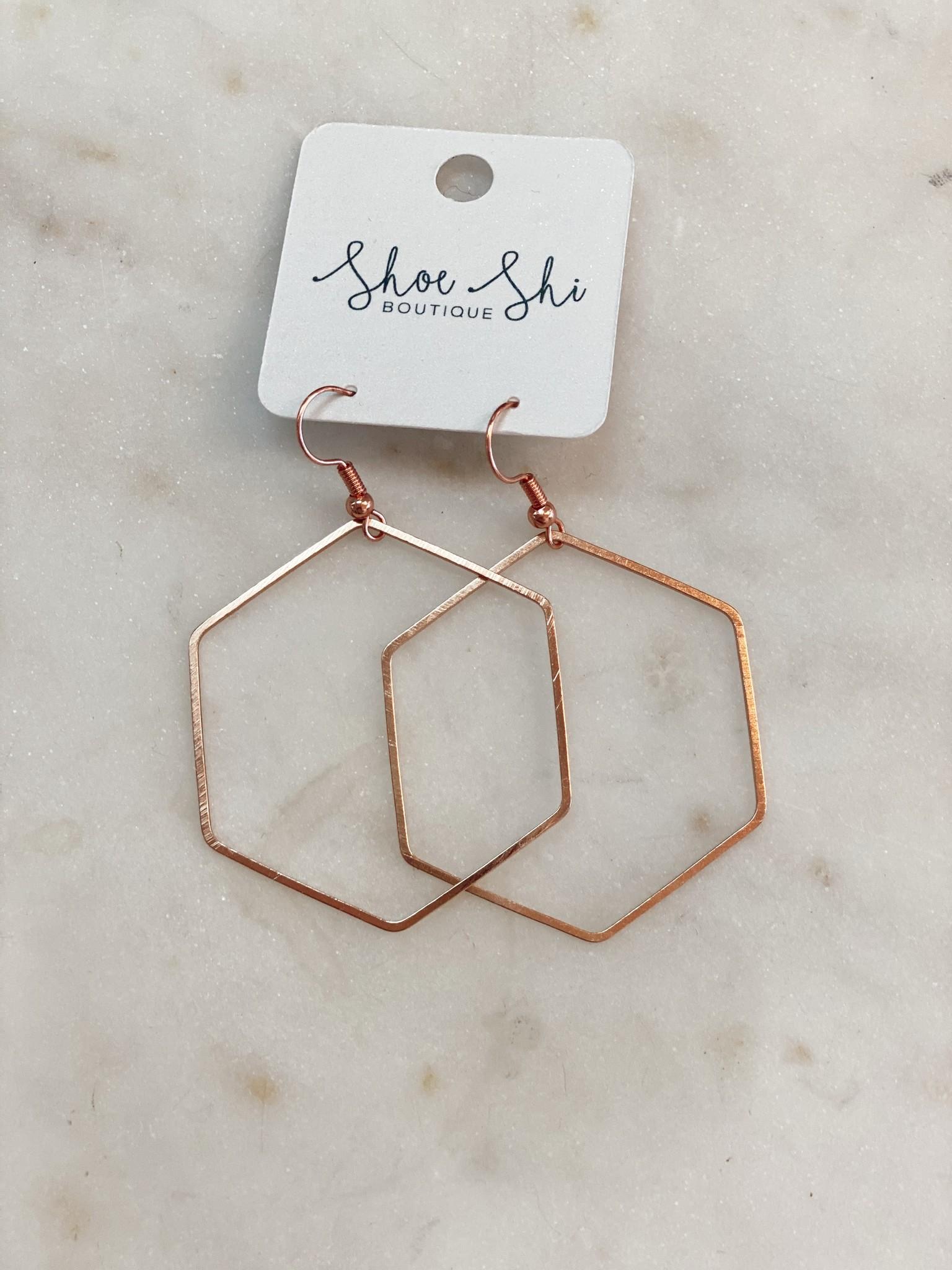 SAJ Hexagon Earrings