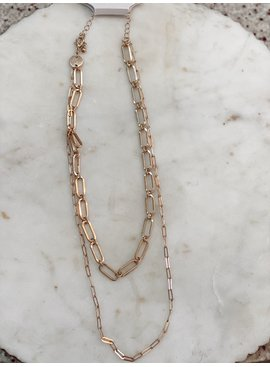 FR Double Chain Link Necklace 4189