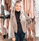 SS Faux Suede Rider Jacket 4984