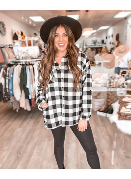 RN Buffalo Plaid  Oversized Shirt 1163