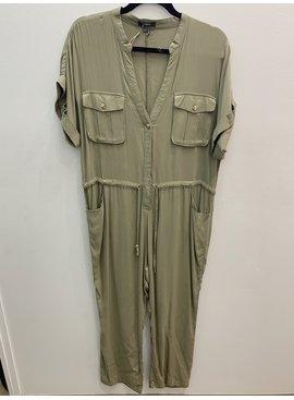 &M Button Down Front Pocket Jumpsuit 7288