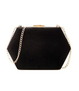 Velvet Hexagon Clutch 9455