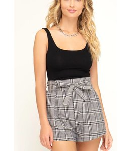 SS Plaid Tie Shorts 7598