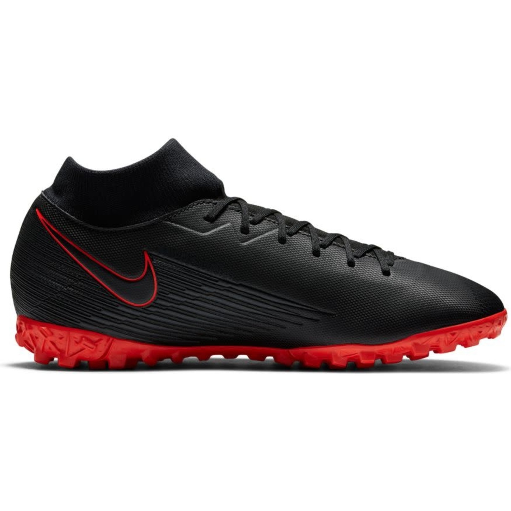 NIKE MERCURIAL SUPERFLY 7 ACADEMY TF (BLACK/RED)