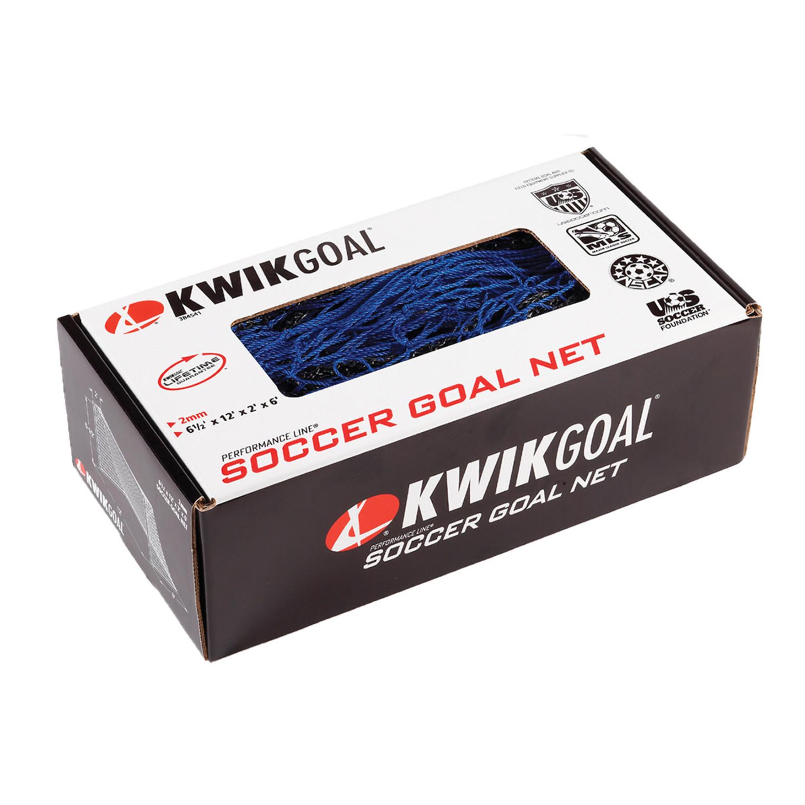 KWIK GOAL Junior Recreational Net - 6 1/2H x 12W x 2D x 6B, 120mm mesh, Solid Braid Knotless Net