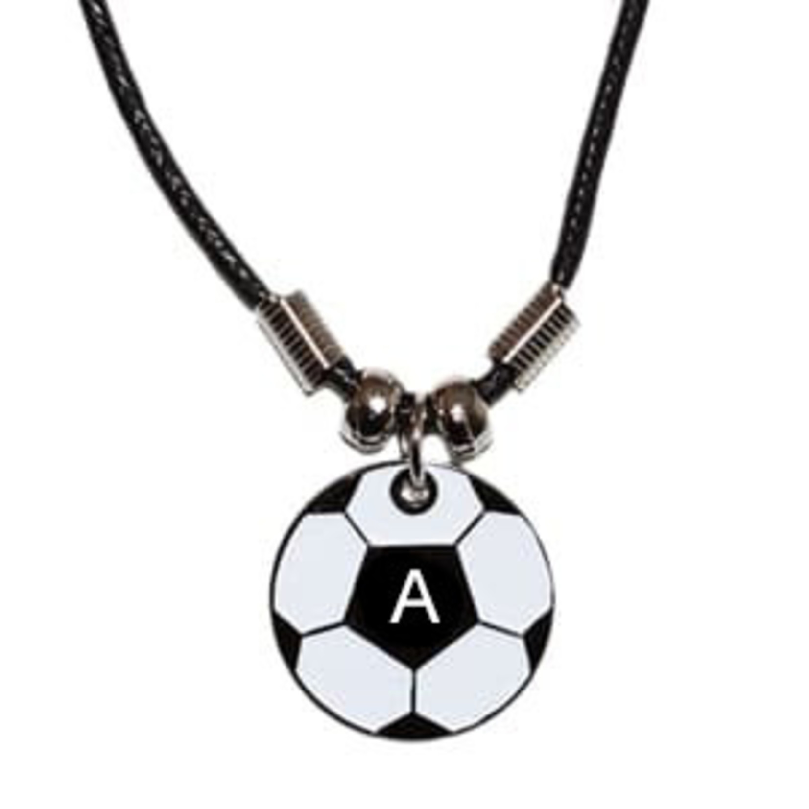 SOCCER BALL INITIAL NECKLACE