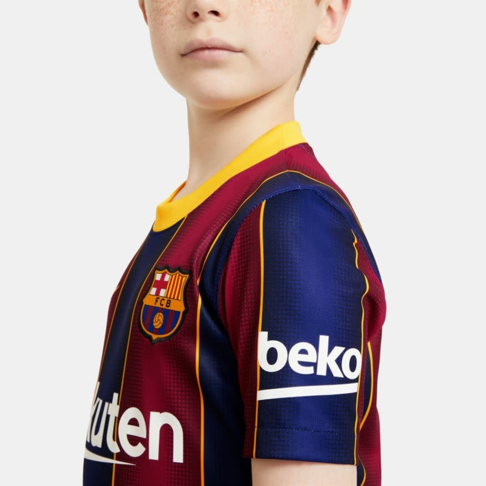 NIKE FC BARCELONA 20/21 HOME JERSEY YOUTH (BLUE/RED)
