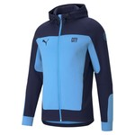 PUMA MANCHESTER CITY 20/21 EVOSTRIPE HOODED JACKET (SKY/NAVY)