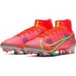NIKE MERCURIAL SUPERFLY 8 ELITE FG (CRIMSON/LIME)