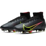 NIKE MERCURIAL SUPERFLY 8 ELITE FG (BLACK/VOLT)