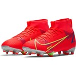 NIKE MERCURIAL SUPERFLY 8 ACADEMY MG JR (CRIMSON/LIME)