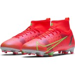 NIKE MERCURIAL SUPERFLY 8 PRO FG JR (CRIMSON/LIME)