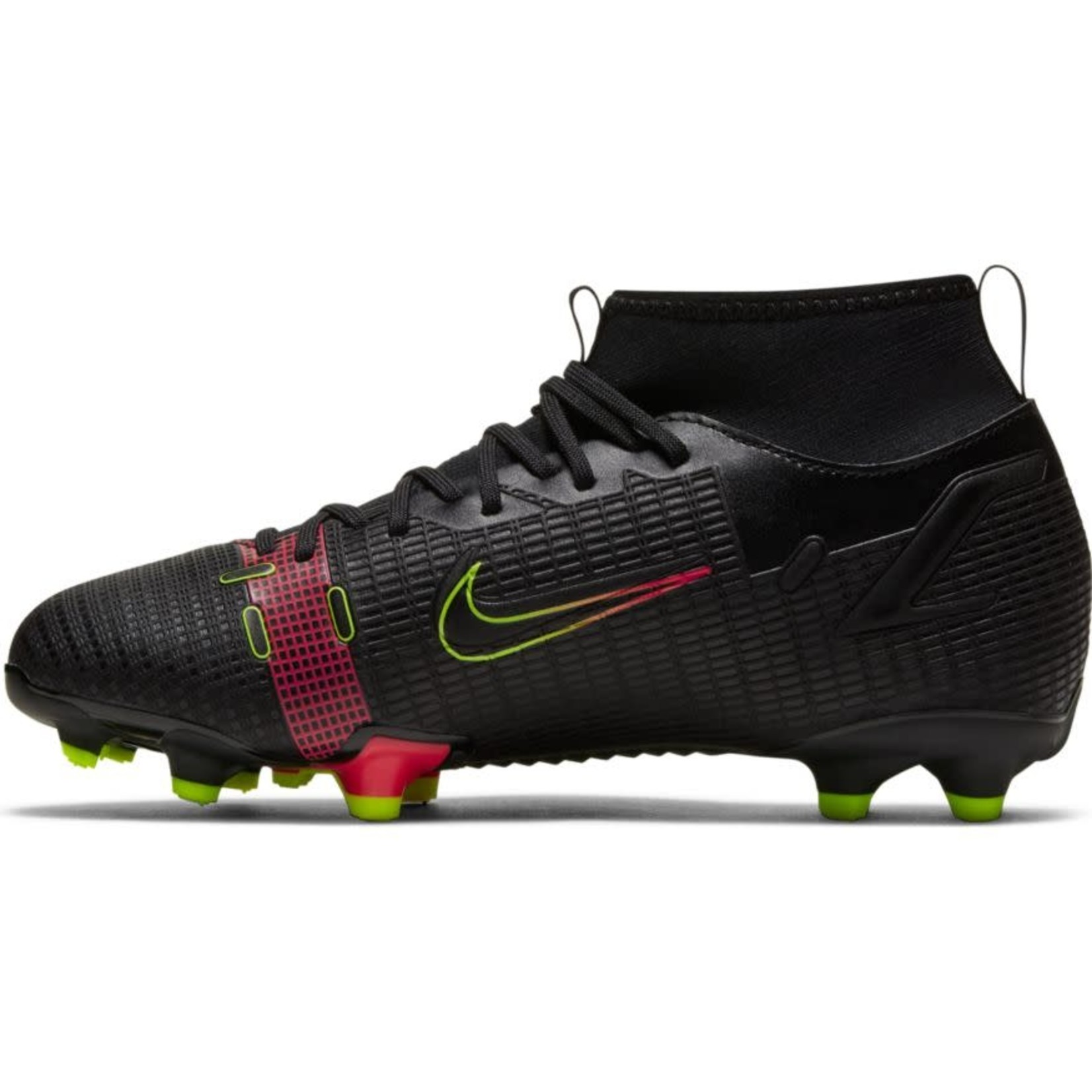 NIKE MERCURIAL SUPERFLY 8 ACADEMY MG JR (BLACK/VOLT)