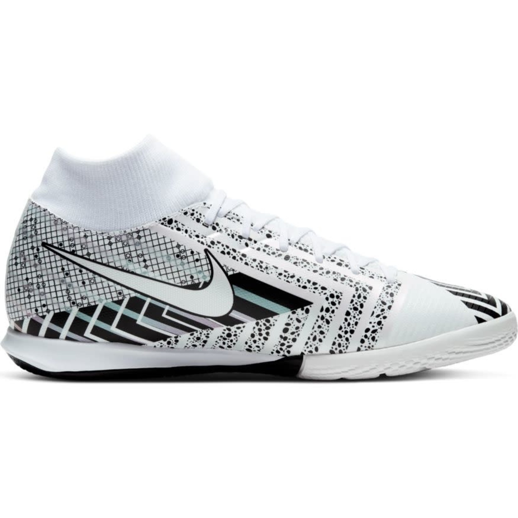 NIKE MERCURIAL SUPERFLY 7 ACADEMY MDS IC (WHITE/BLACK)