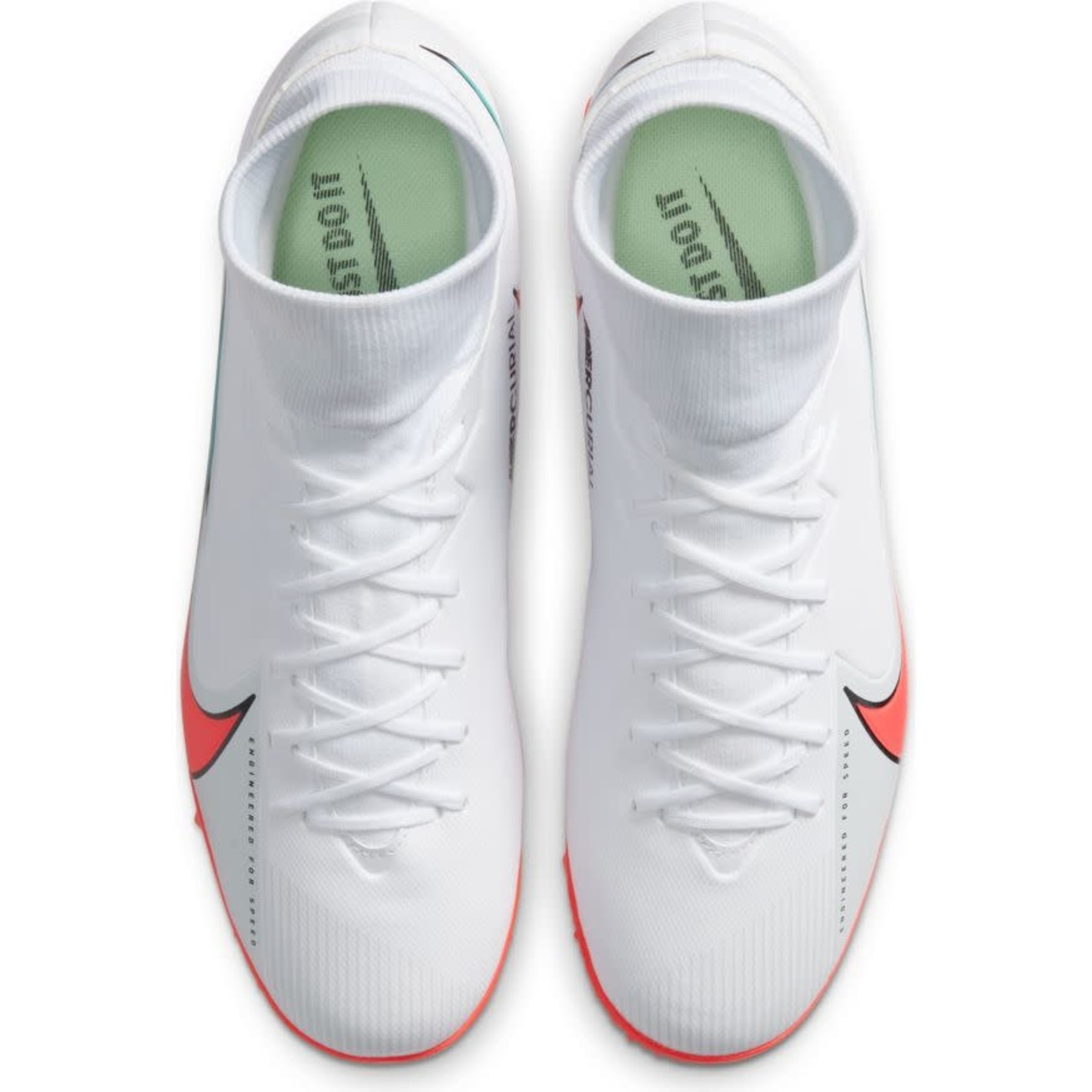NIKE MERCURIAL SUPERFLY 7 ACADEMY TF (WHITE/PINK)