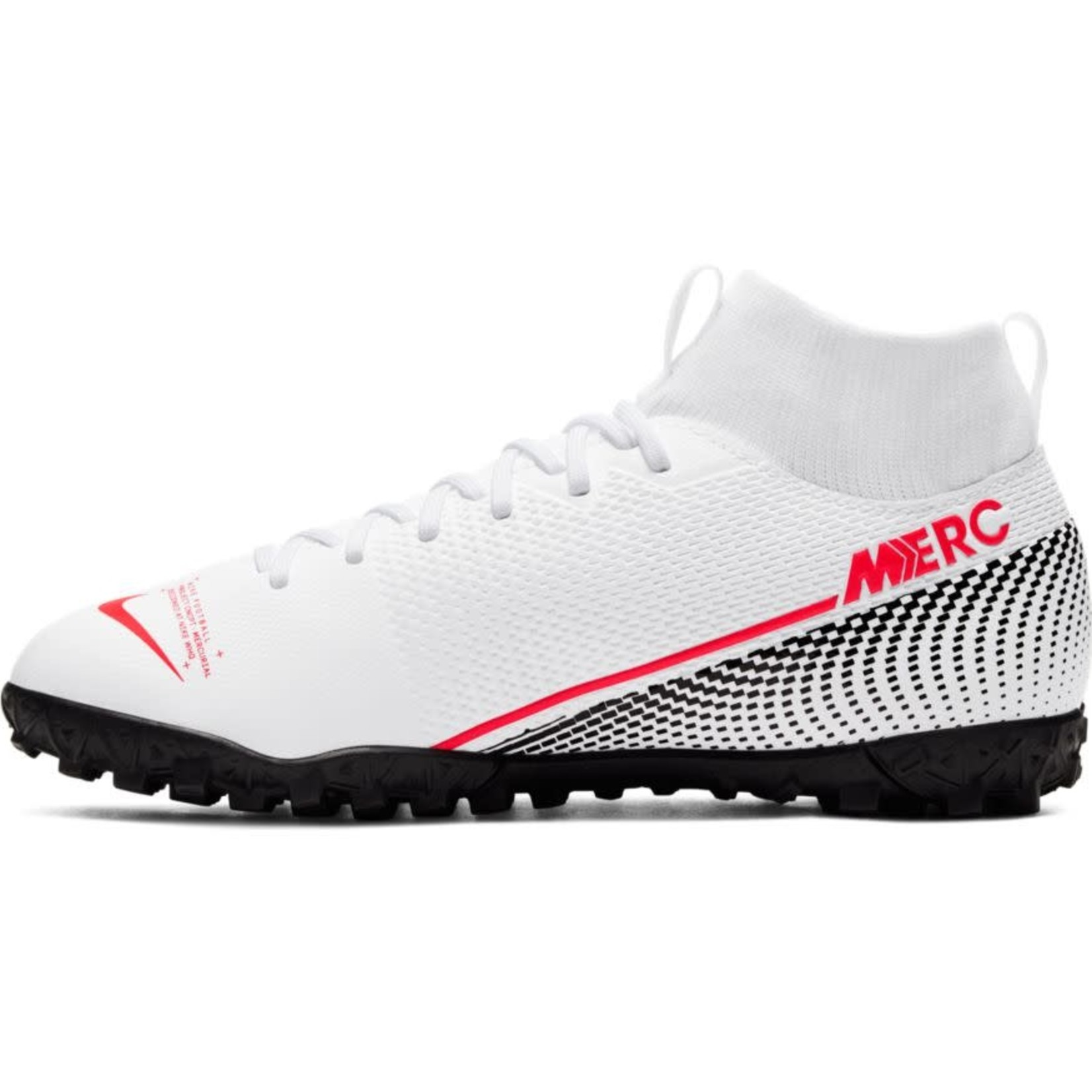 NIKE MERCURIAL SUPERFLY 7 ACADEMY TF JR (WHITE/RED)
