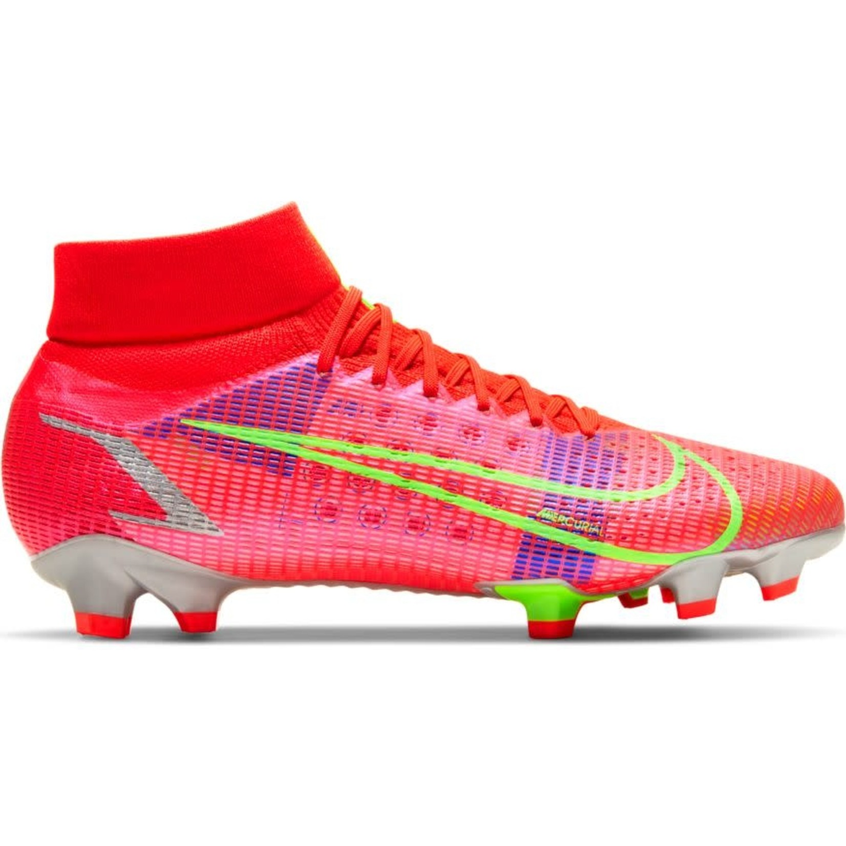 NIKE MERCURIAL SUPERFLY 8 PRO FG (CRIMSON/LIME)