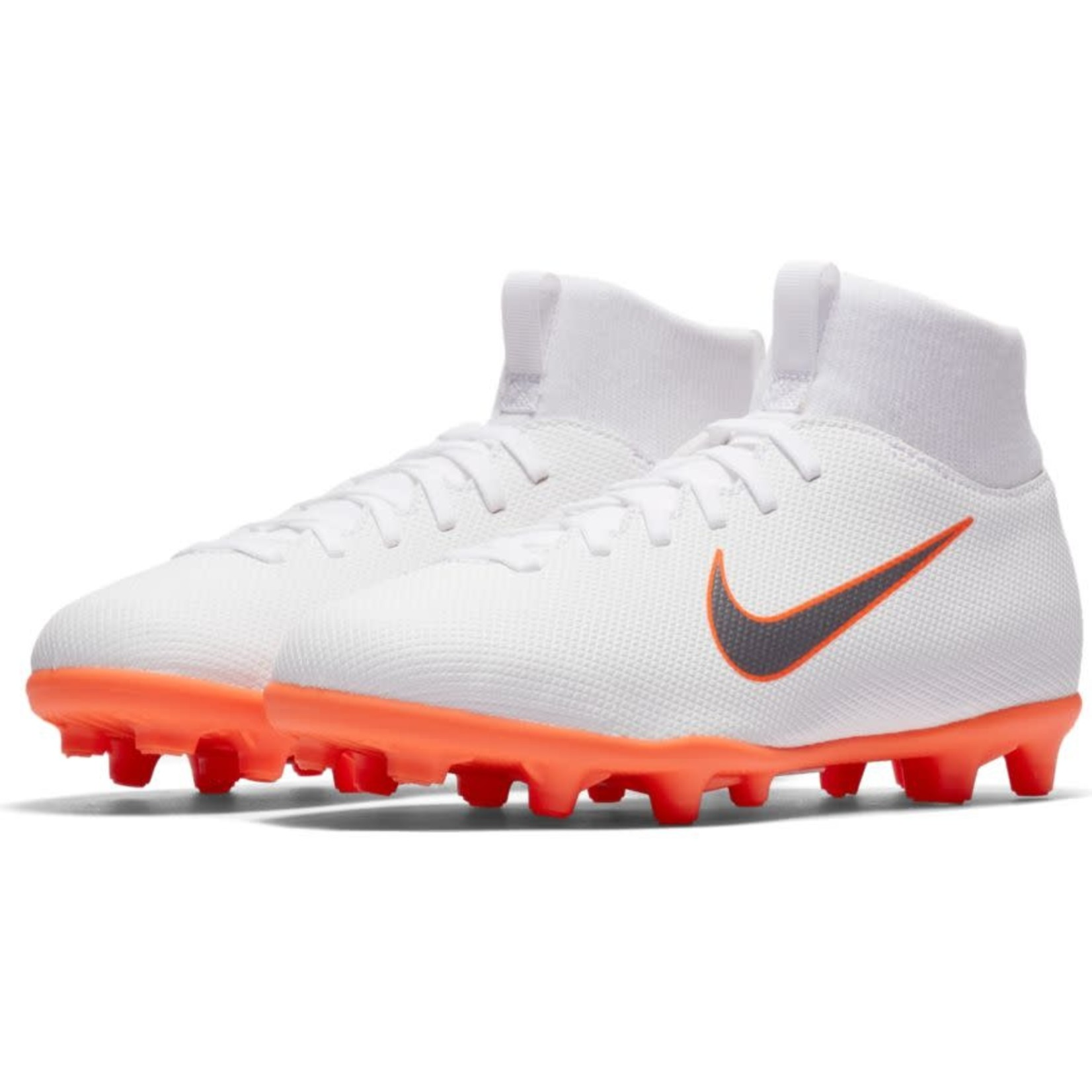 NIKE MERCURIAL SUPERFLY 6 CLUB MG JR (WHITE/ORANGE)