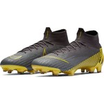 NIKE MERCURIAL SUPERFLY 6 ELITE FG (GRAY/YELLOW)