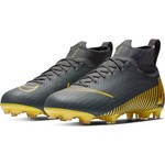 NIKE MERCURIAL SUPERFLY 6 ELITE FG JR (GRAY/YELLOW)