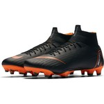 NIKE MERCURIAL SUPERFLY 6 PRO FG (BLACK/ORANGE)