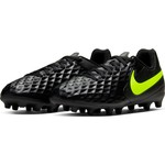 NIKE TIEMPO LEGEND 8 CLUB FG/MG JR (BLACK/VOLT)