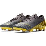 NIKE MERCURIAL VAPOR 12 ELITE FG (GRAY/YELLOW)