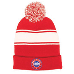 NATIONALS STRIPE POM BEANIE