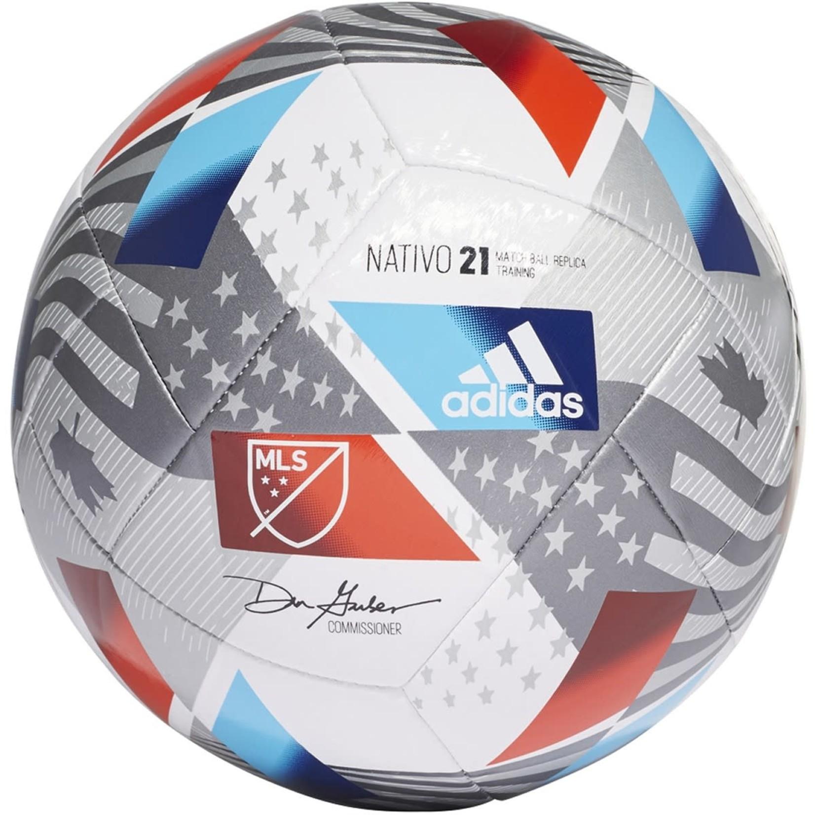 ADIDAS MLS NATIVO 21 TRAINING BALL (WHITE/BLUE/RED)