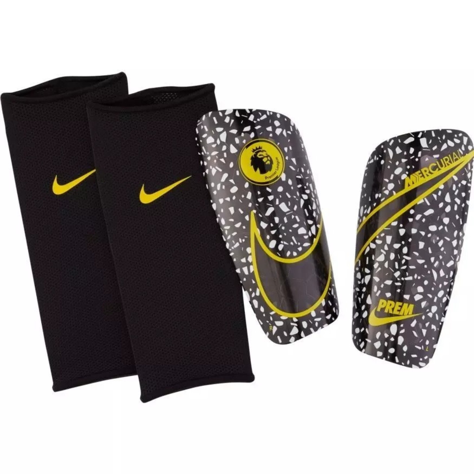 NIKE MERCURIAL LITE PL GUARD (BLACK/WHITE/YELLOW)