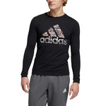 ADIDAS BADGE OF SPORT GLITCH LONG SLEEVE TEE (BLACK/MULTI)