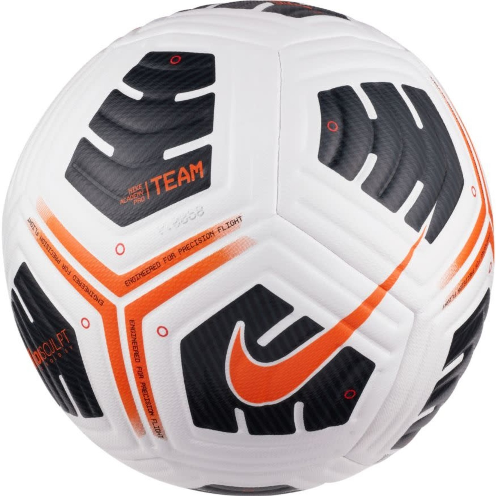 NIKE ACADEMY PRO TEAM BALL (WHITE/BLACK/ORANGE)