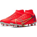 NIKE MERCURIAL SUPERFLY 8 ACADEMY FG/MG (CRIMSON/LIME)
