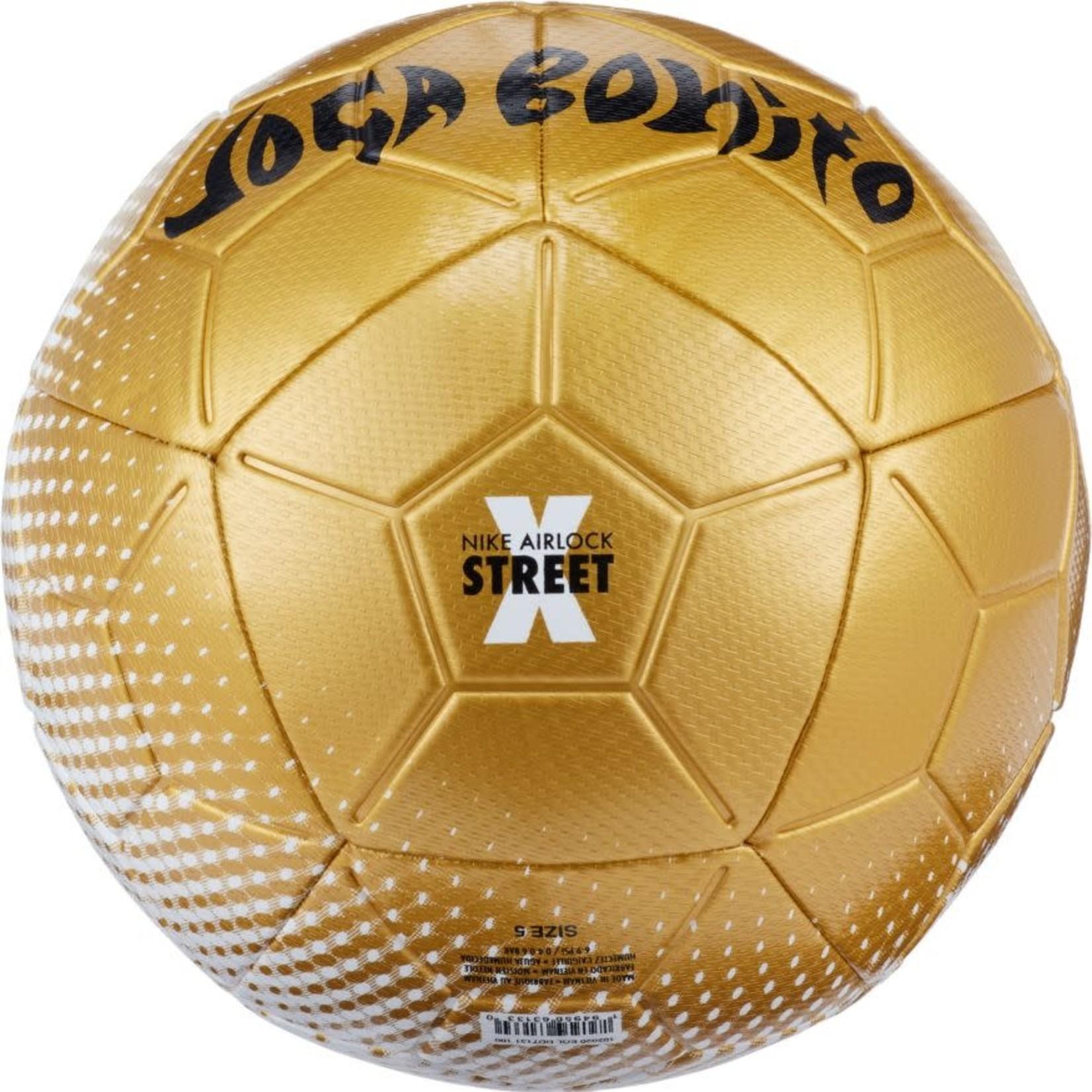 "NIKE ""NIKE FC"" AIRLOCK STREET X JOGA BONITO BALL (GOLD/WHITE)"