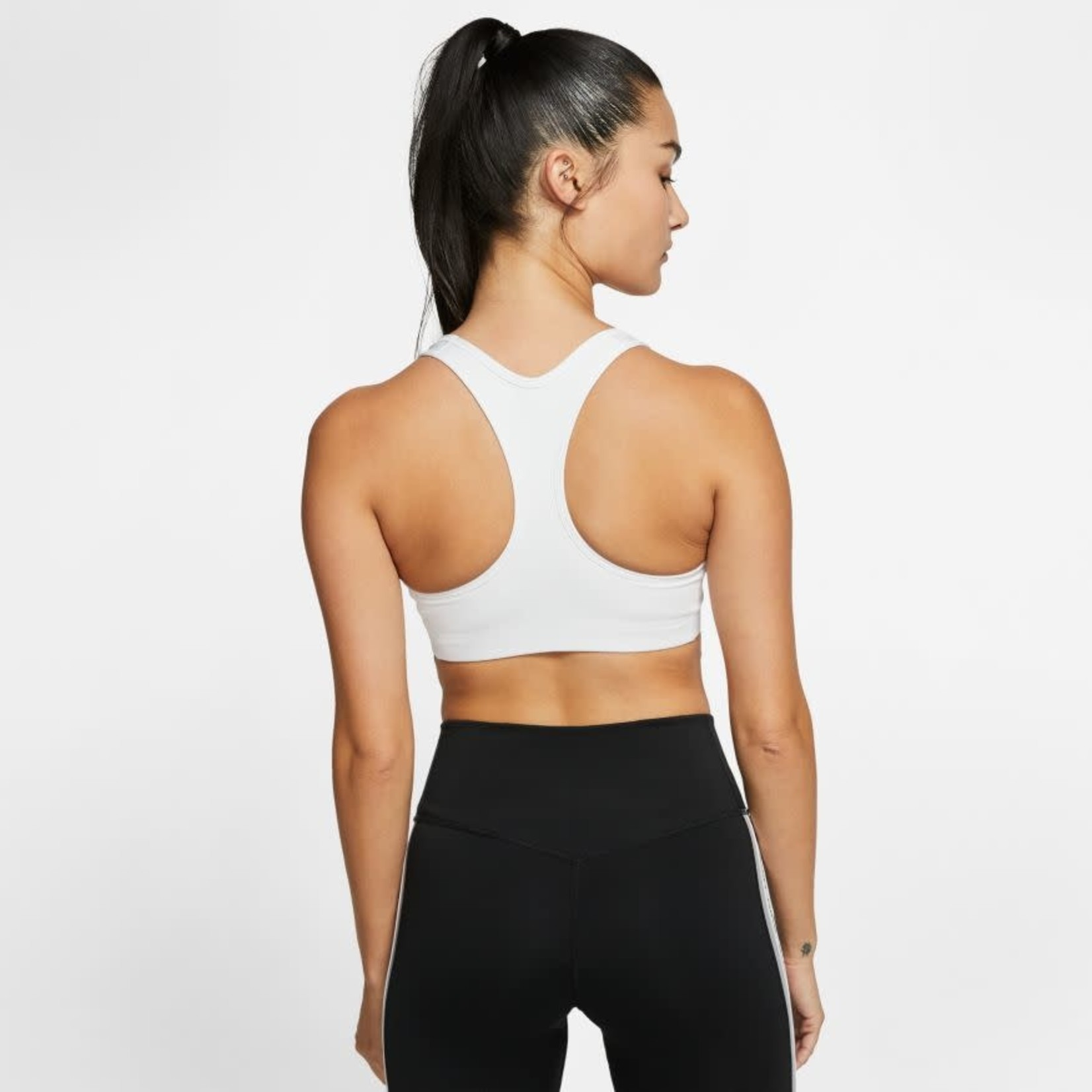 NIKE DRI-FIT SWOOSH NON-PADDED SPORTS BRA (WHITE)