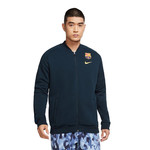 NIKE FC BARCELONA 20/21 GFA FLEECE TRACK JACKET (NAVY)