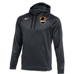 NIKE MI BURN THERMA FIT PULLOVER FLEECE HOODIE (GRAY)