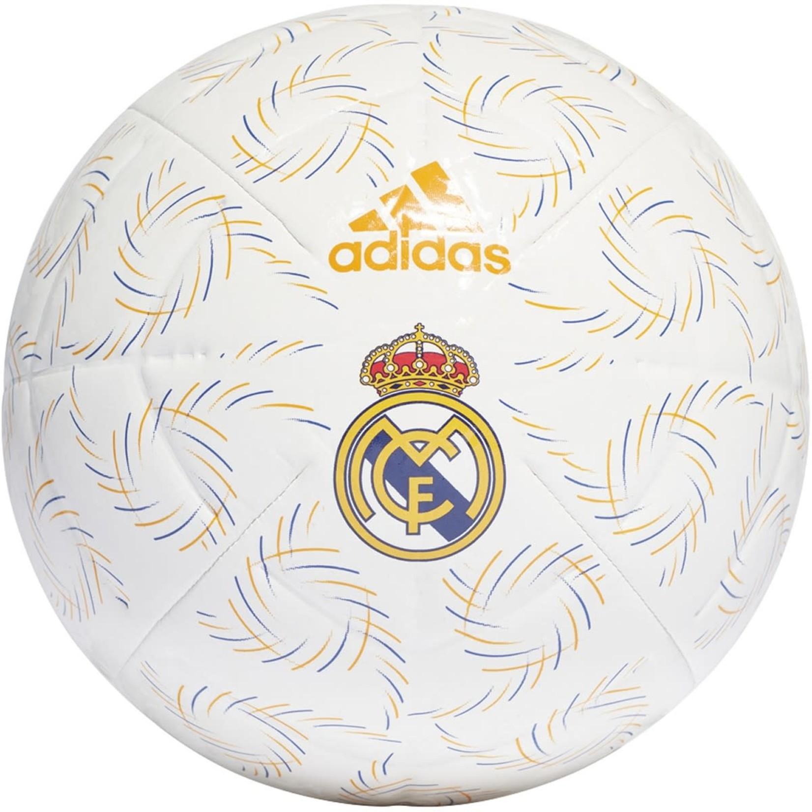 ADIDAS REAL MADRID 21/22 HOME CLUB BALL (WHITE/ORANGE)