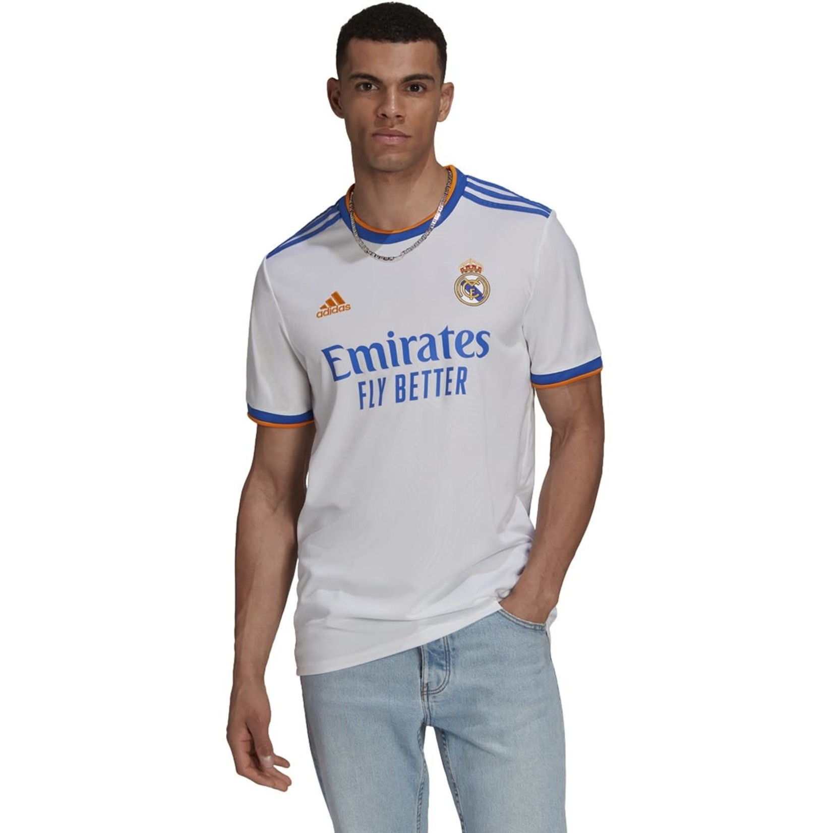 ADIDAS REAL MADRID 21/22 HOME JERSEY (WHITE)