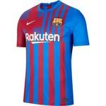 NIKE FC BARCELONA 21/22 HOME JERSEY (MAROON/BLUE)