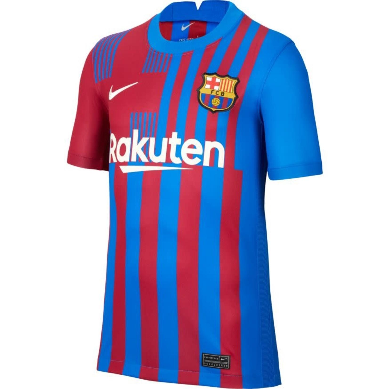 NIKE FC BARCELONA 21/22 HOME JERSEY YOUTH (MAROON/BLUE)