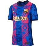 NIKE FC BARCELONA 21/22 THIRD JERSEY YOUTH (BLUE/MAROON)